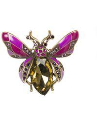 Oasis - Gemstone Bug Brooch - Lyst