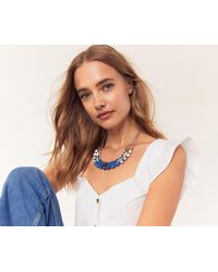 Oasis - Rainbow Layered Necklace - Lyst