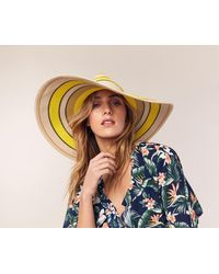 Oasis - Stripe Floppy Hat - Lyst