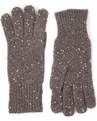 Oasis - Sequin Knitted Glove - Lyst