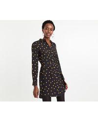 70bb8047da6e Lyst - Oasis Spot Print Tie Front Shift Dress in Black