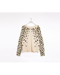 Oasis Leopard Print Knit Jumper - Multicolour