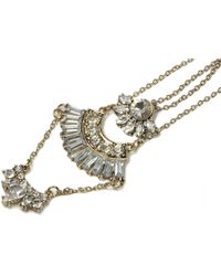 Oasis | 3 Row Deco Necklace | Lyst