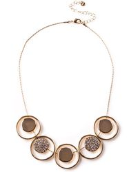 Oasis - Crystal Disc And Ring Necklace - Lyst