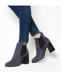 Office - Lavish Smart Flared Heeled Chelseas - Lyst