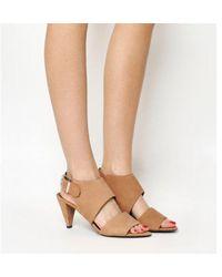 Office - Minimal Two Strip Cone Heels - Lyst