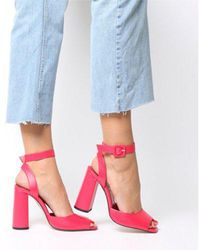 f601d640b83 Office - Heartly Square Block Heel Ankle Strap - Lyst