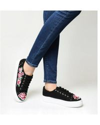 Office - Flip Embroidered And Studded Trainer - Lyst