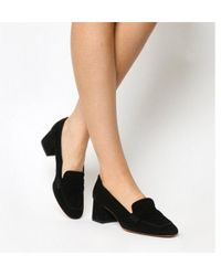Office - Mod Block Heel Loafer - Lyst