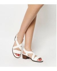 2207a33d0a0 Office Hepburn Block Heel Strappy Sandals in Black - Lyst