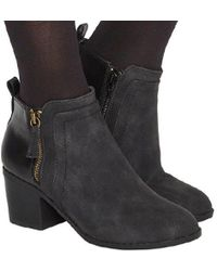 Office - Lucy Side Zip Detail Boot - Lyst