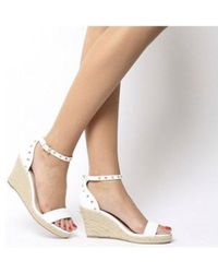 Office - Music Studded Wedge Espadrille - Lyst