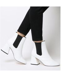 Office - Angular- Block Heel Chelsea - Lyst