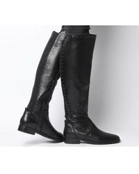 Office Kendra- Studded Rider Boot - Black