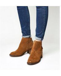 Office - Inventive Back Zip Mid Heel Boot - Lyst
