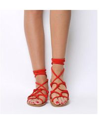 Office - Secret- Knotted Tie Up Sandal - Lyst