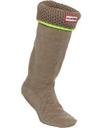 HUNTER - Neon Trim Boots Sock - Lyst