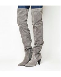Office - Kone Slouch Over The Knee Boots - Lyst