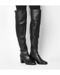 Office - Krissy- Black Heel Over The Knee Boot - Lyst