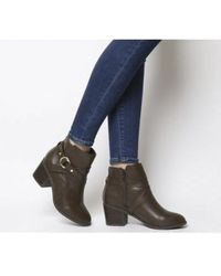 Office Angelina- Block Heel Strap Ankle Boot