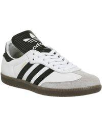 adidas samba formatori bianco bianchi originali per gli uomini lyst