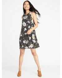 Old Navy - Jersey-knit Sleeveless Swing Dress - Lyst