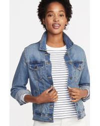 60f0d9f067f Lyst - Old Navy Plus-size Embroidered-graphic Denim Jacket in Blue