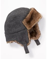 Old Navy - Faux-fur-lined Trapper Hat - Lyst