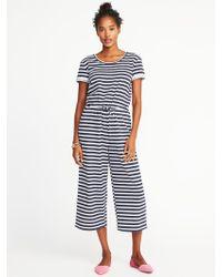 97b9671b6d7 Lyst - Charlotte Russe Plus Size Striped V-neck Jumpsuit