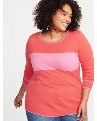 02bfc5f1769 Lyst - Old Navy Classic Plus-size Graphic Crew-neck Sweater in Pink