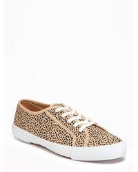 Old Navy - Cheetah-print Sneakers - Lyst