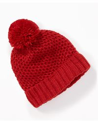 Old Navy - Honeycomb-knit Pom-pom Beanie - Lyst