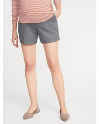 03f73f5a185c4 Old Navy - Maternity Full Panel Everyday Shorts - 5-inch Inseam - Lyst