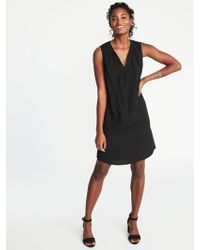 Old Navy - Sleeveless Tie-neck Shift Dress - Lyst