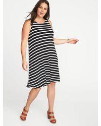 168192d556846 Old Navy - Sleeveless Plus-size Jersey-knit Swing Dress - Lyst