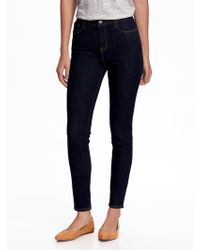 46dc4468baf Old Navy High-rise Rockstar Built-in Sculpt Skinny Jeans in Blue - Lyst
