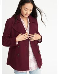 Old Navy - Soft-brushed Peacoat - Lyst