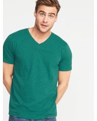 5fe9f6b24628 American Eagle Flex Solid V-neck T-shirt in Green for Men - Lyst