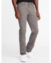 Old Navy - Slim Built-in Tough All-temp Twill Five-pocket Pants - Lyst