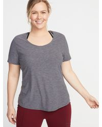 40c9f751644 Old Navy - Semi-fitted Plus-size Mesh-back Performance Tee - Lyst