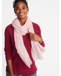 Old Navy - Printed Gauze Scarf - Lyst