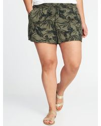 """Old Navy - Mid-rise Plus-size Printed Soft Shorts (5"""") - Lyst"""