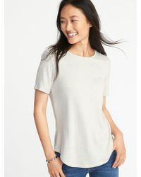 647207385 Lyst - Old Navy Loose Luxe Soft-spun Tee in Pink