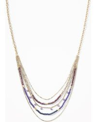 Old Navy - Layered Bead Chain Necklace - Lyst