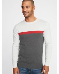 Old Navy - Color-blocked Crew-neck Sweater - Lyst