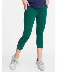 d06ccb3615c85a Old Navy Mid-rise 7/8-length Mesh-trim Compression Leggings in Purple - Lyst