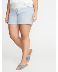 f8e4698412 Rampage Trendy Plus Size Dip-dyed Denim Shorts in Blue - Lyst