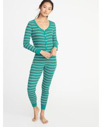 Old Navy - Patterned Thermal-knit One-piece Pjs - Lyst