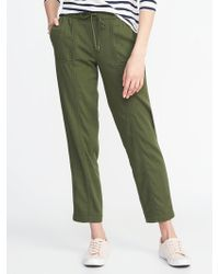 Old Navy - Mid-rise Soft Utility Cropped Pants - Lyst