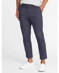 Old Navy - Relaxed Slim Built-in Flex Cropped Signature Pants - Lyst